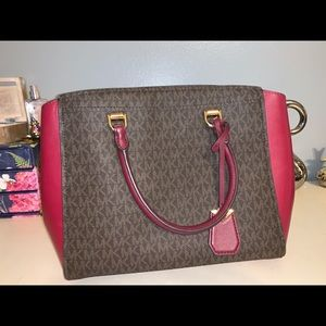 Brown/Red Michael Kors Logo Purse